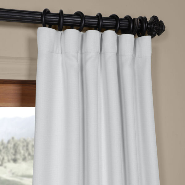 White Oyster 84 x 50 In. Faux Linen Blackout Curtain Single Panel, image 2