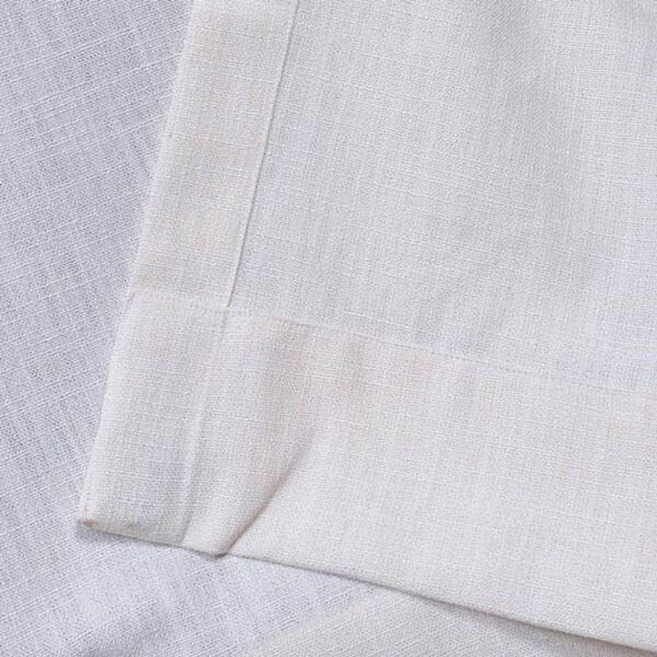 White 96 x 50-Inch Grommet Curtain Single Panel, image 5