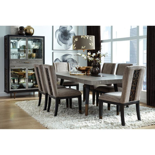 Ryker Black Dining Side Chair with Upholstered Seat, image 2