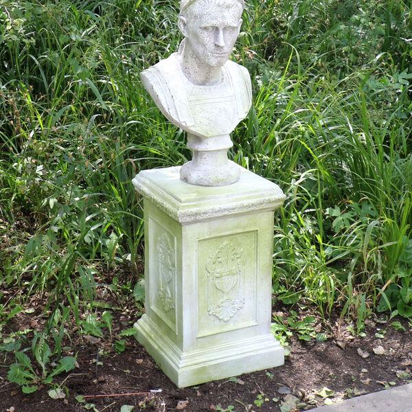 White Moss Fiberstone Grif Pedestal, image 2