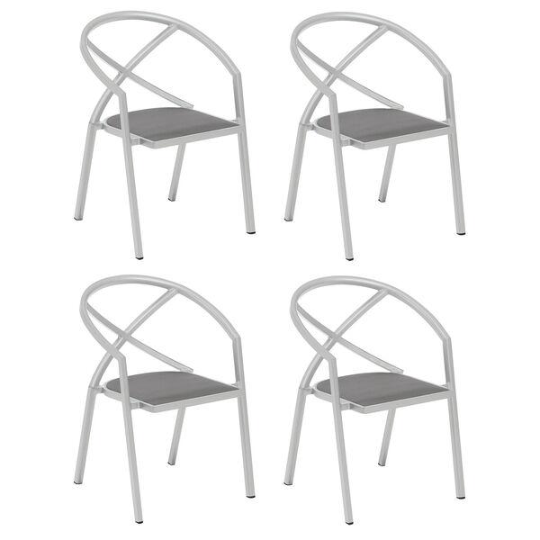 Azal Titanium Armchair, Set of Four, image 1
