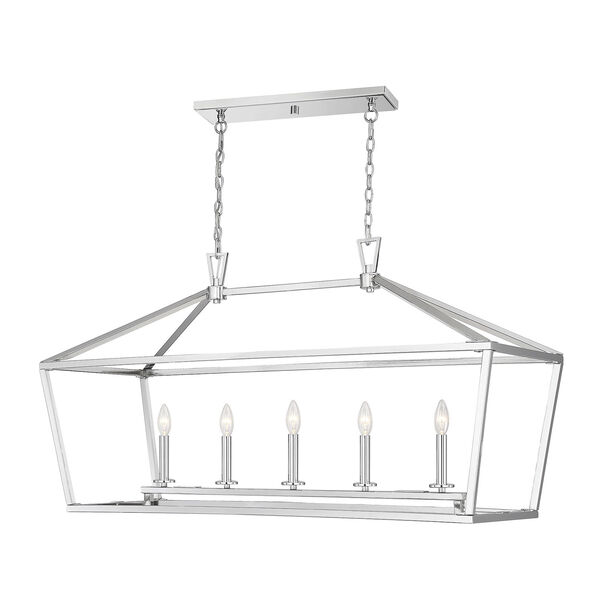 Townsend Polished Nickel Five-Light Pendant, image 3