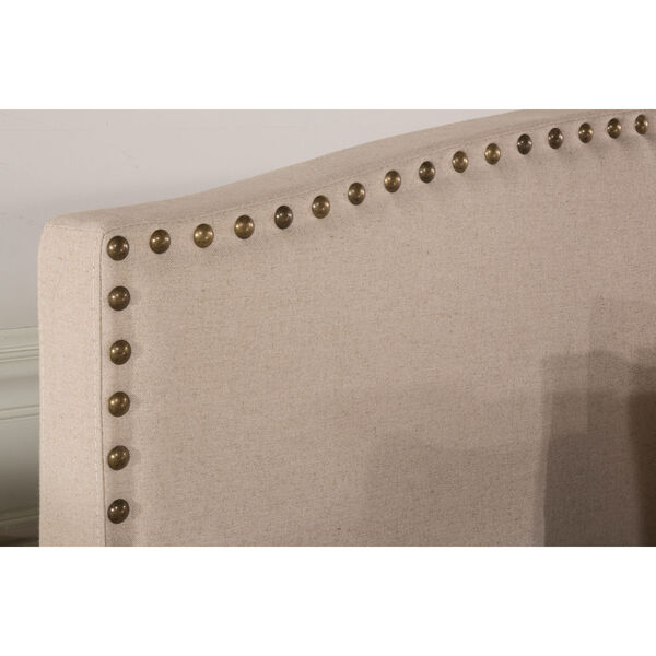 Kerstein Light Taupe Fabric Full Headboard Only, image 3
