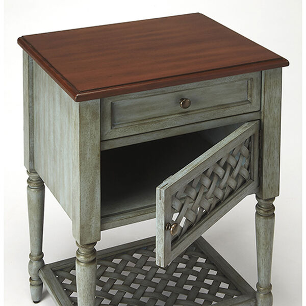 Quinn Rustic Blue End Table, image 3