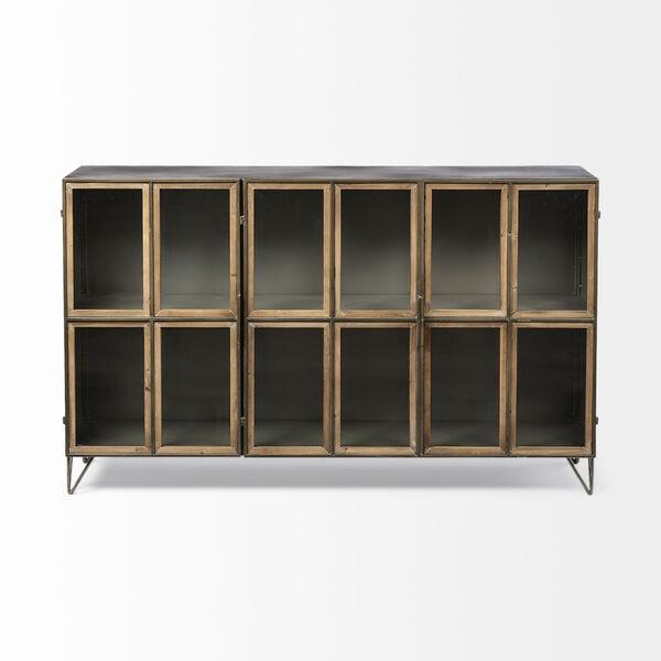 Pandora II Brown Door Display Cabinet, image 2