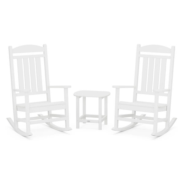 Presidential White Rocker Set, 3-Piece, image 1