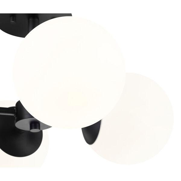 Midnetic Matte Black Four-Light Semi Flush Mount, image 5