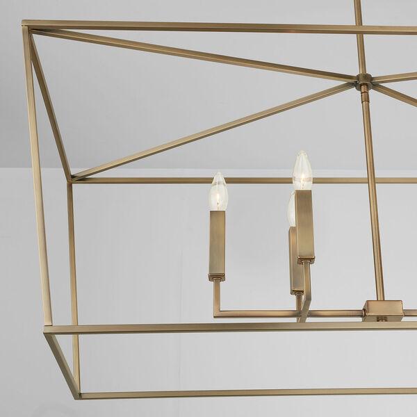 Thea Aged Brass Six-Light Island Pendant, image 5