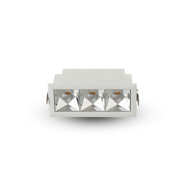 Rubik White Three-Light LED Recessed Downlight, image 1
