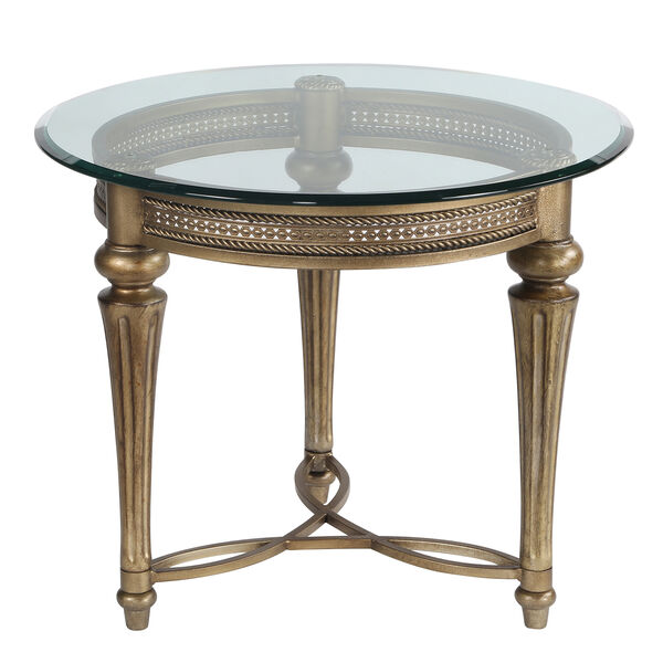 Galloway Glass Round End Table w/ Glass Top, image 1