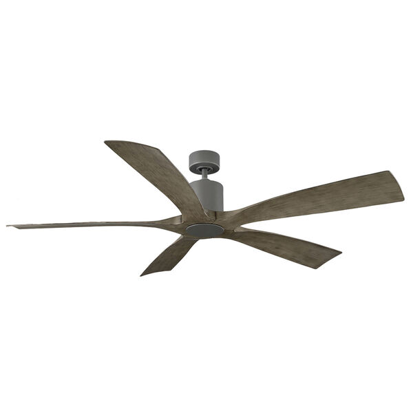 Aviator Graphite and Weathered Gray 70-Inch ADA LED Ceiling Fan, image 1