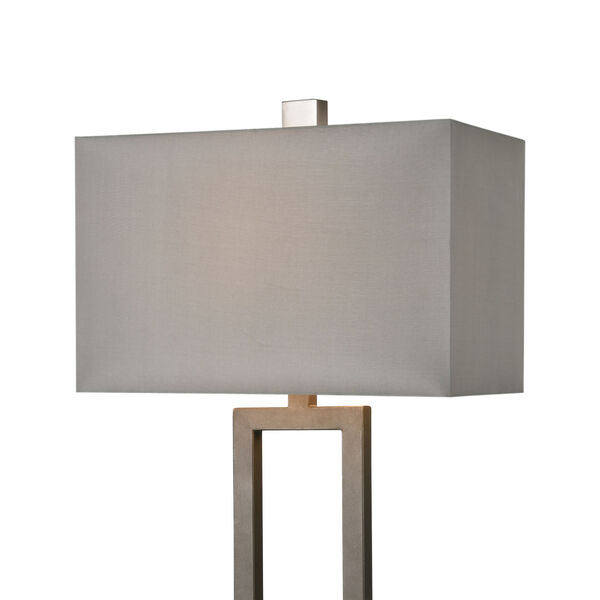 Courier Pewter and Rough Concrete One-Light Table Lamp, image 3