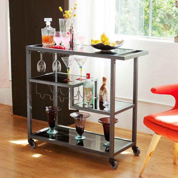 Zephs Gray and Black Bar Cart, image 5