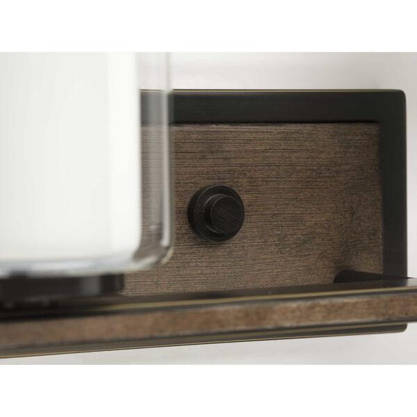 P300216-020 Mast Antique Bronze 14-Inch Two-Light Bath Vanity, image 4