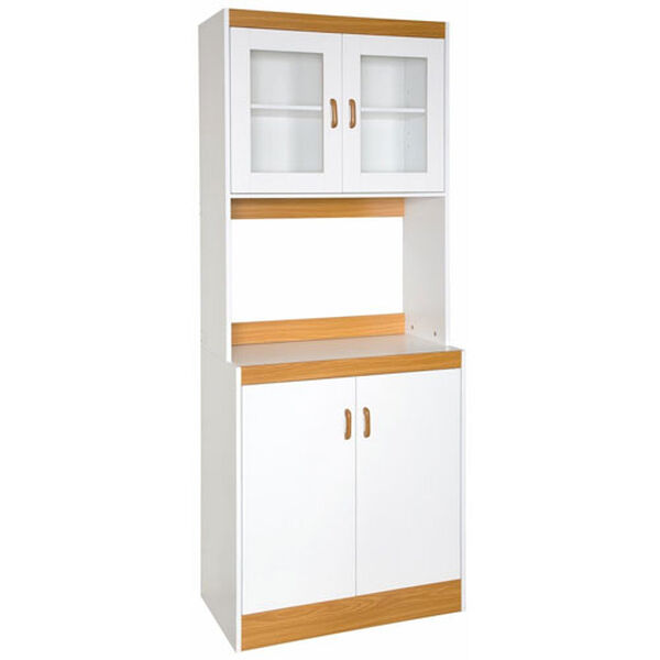 White Tall Microwave Cart, image 1