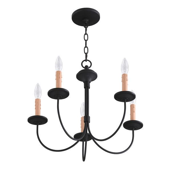 Heritage Black Five-Light Chandelier, image 5