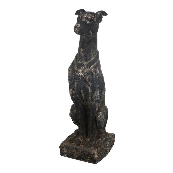Black 31-Inch Dog Figurine, image 1