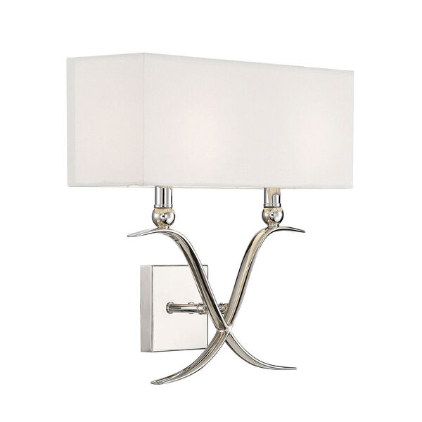 Linden Polished Nickel Two-Light Wall Sconce, image 4