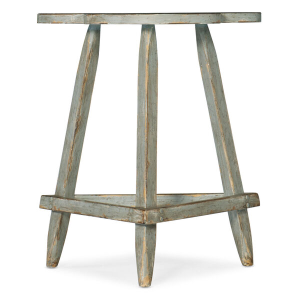 Alfresco Gustavian Blue Accent Table, image 1
