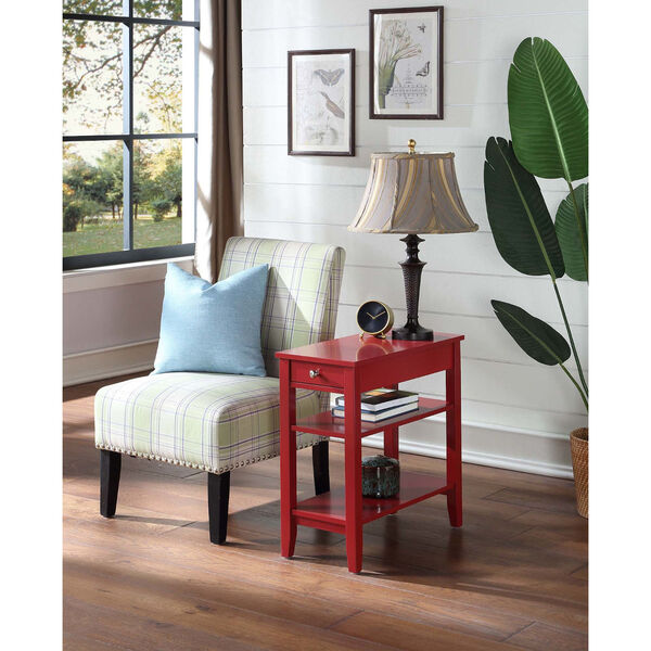 American Heritage Three Tier End Table With Drawer, image 1