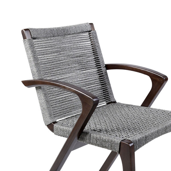 Brielle Dark Eucalyptus Outdoor Dining Chair, Set of Two, image 5