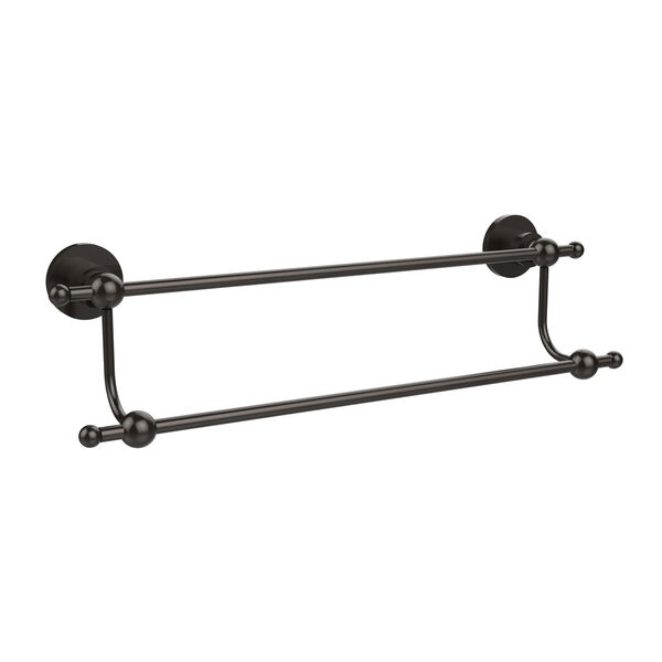 Astor Place Oil Rubbed Bronze 18 Inch Double Towel Bar, image 1