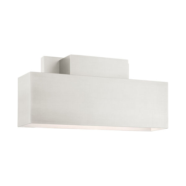 Lynx Brushed Nickel Two-Light Outdoor ADA Wall Sconce, image 1