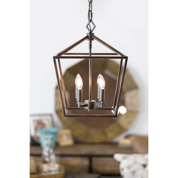 Kenwood Rubbed Bronze Four-Light Lantern Pendant, image 15