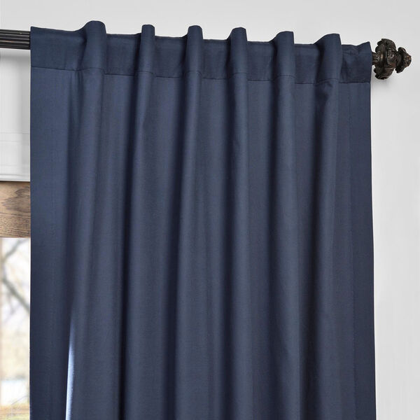 Polo Navy 50 x 84-Inch Solid Cotton Blackout  Curtain, image 4