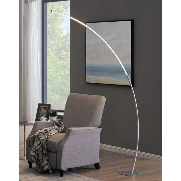 Monita Silver LED Arc Floor Lamp, image 2