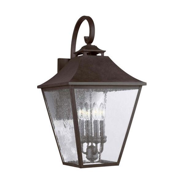 Sutton Black 25-Inch Four-Light Outdoor Wall Lantern, image 1