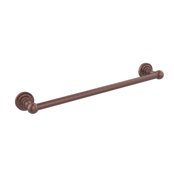 Antique Copper 18-Inch Towel Bar, image 1