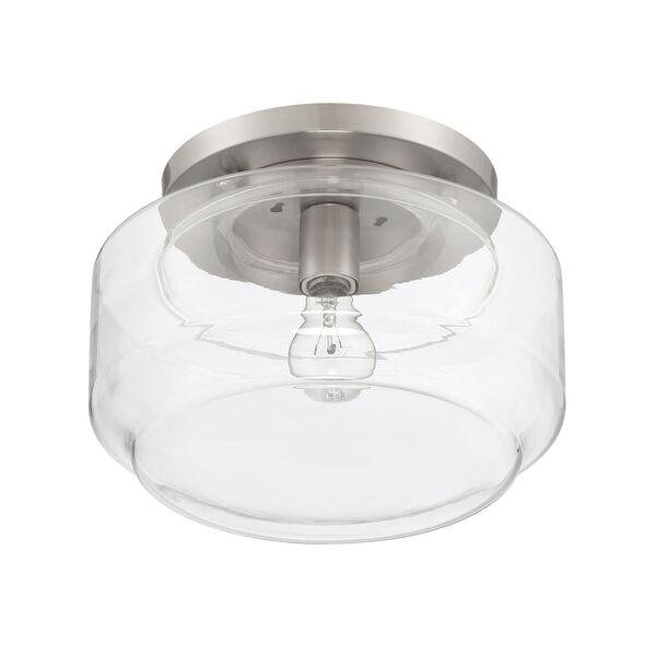Peri Brushed Polished Nickel 12-Inch One-Light Flushmount, image 3