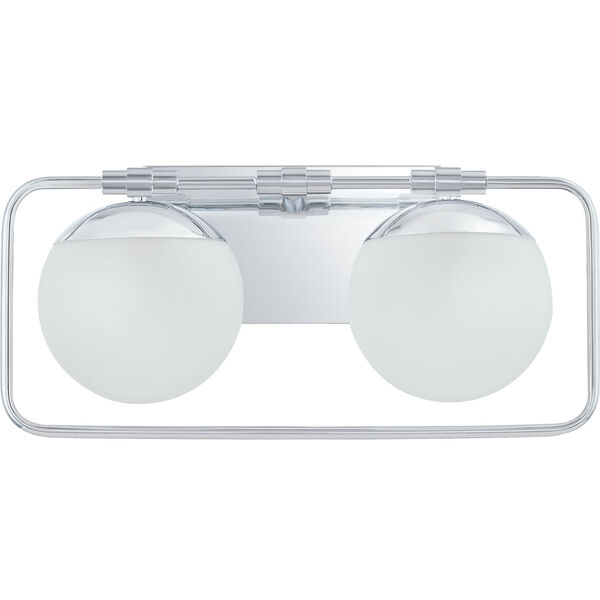 Padgett Polished Chrome Two-Light Bath Vanity, image 3