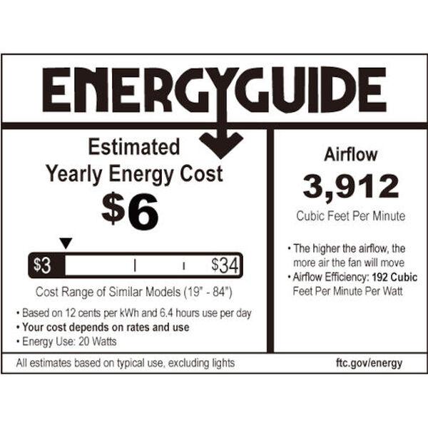 Seacrest Coal 60-Inch LED Indoor Outdoor Smart Ceiling Fan, image 2