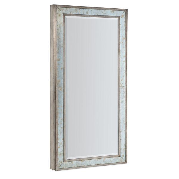 Melange McAlister Silver Floor Mirror with Jewelry Storage, image 2