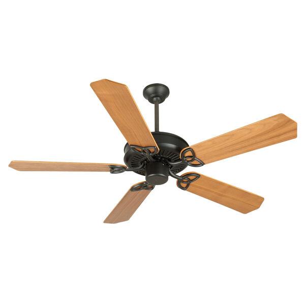 CXL Flat Black Ceiling Fan with 52-Inch Custom Wood Walnut Blades, image 1