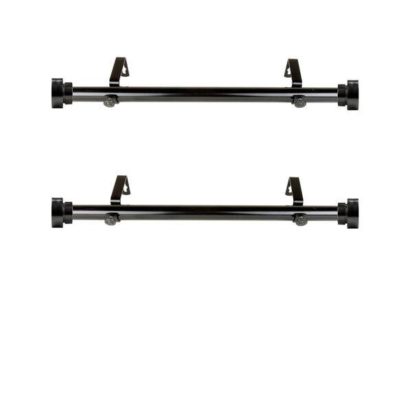 Black Side Curtain Rod, Set of 2, image 1