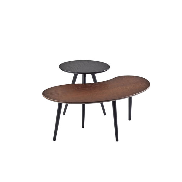 Gilmour Black and Walnut Nesting Table, image 1