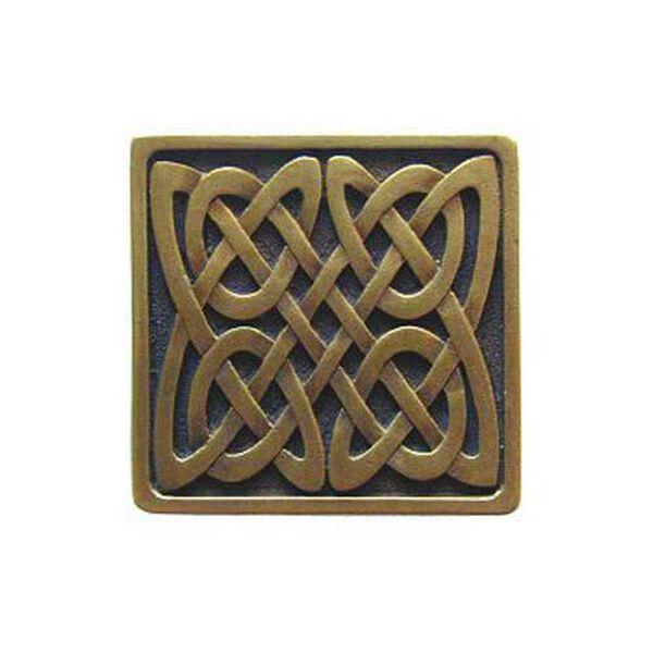 Antique Brass Celtic Isles Knob , image 1