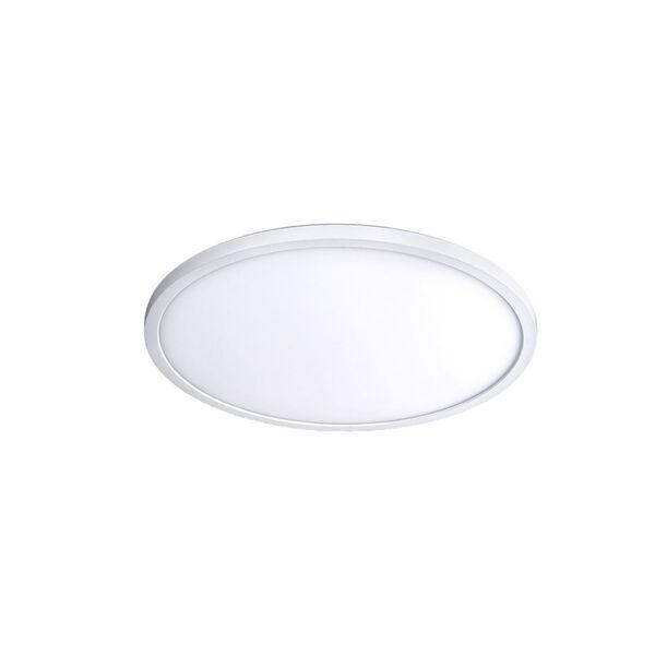 White 11-Inch 3000K LED ADA Round Flush Mount, image 1