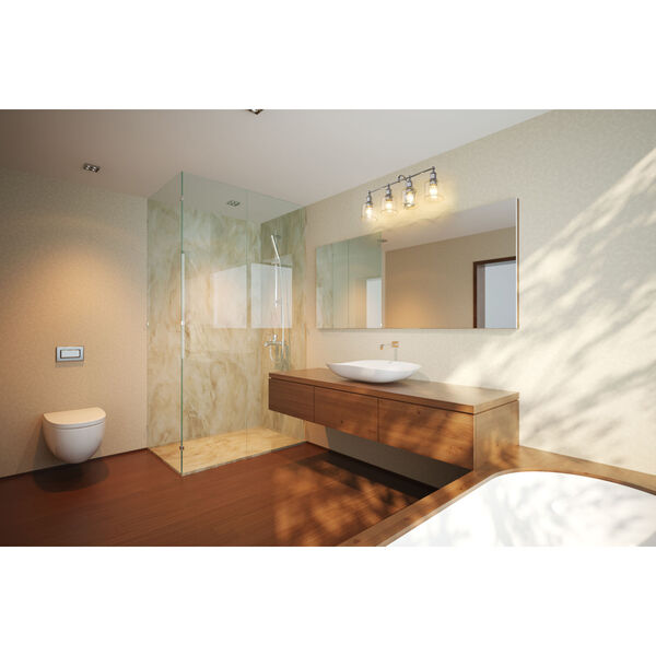 Bryant Chrome Four-Light Bath Vanity, image 3