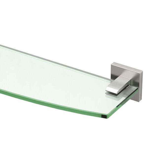 Elevate Satin Nickel Glass Shelf, image 2