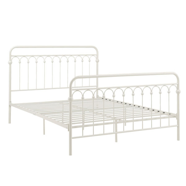 Isobel White Queen Metal Arches Platform Bed, image 4