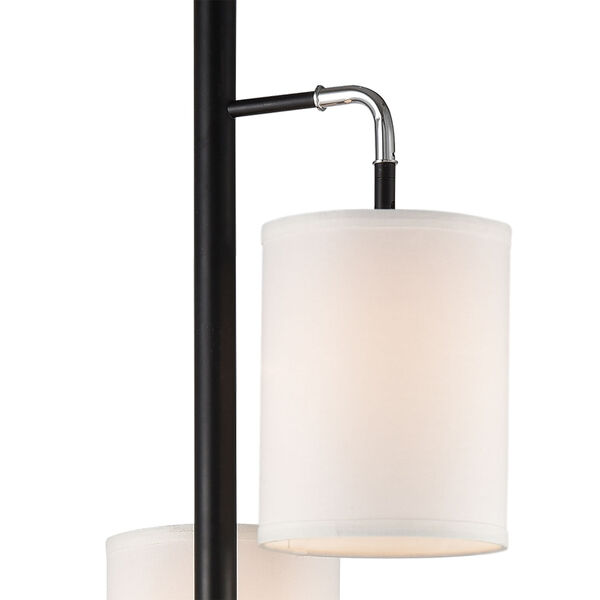 Uprising Black Chrome Three-Light Floor Lamp, image 2