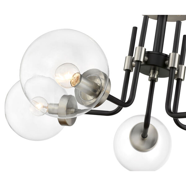 Parsons Matte Black and Brushed Nickel Five-Light Semi Flush Mount, image 6