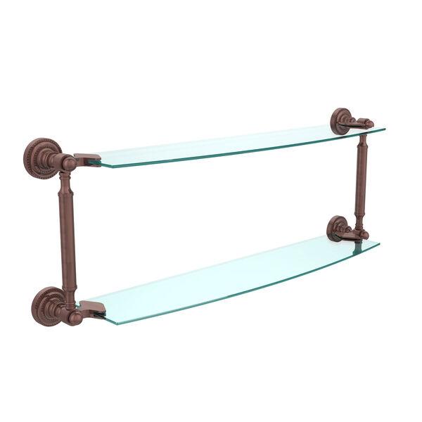 Antique Copper 24-Inch Double Shelf , image 1