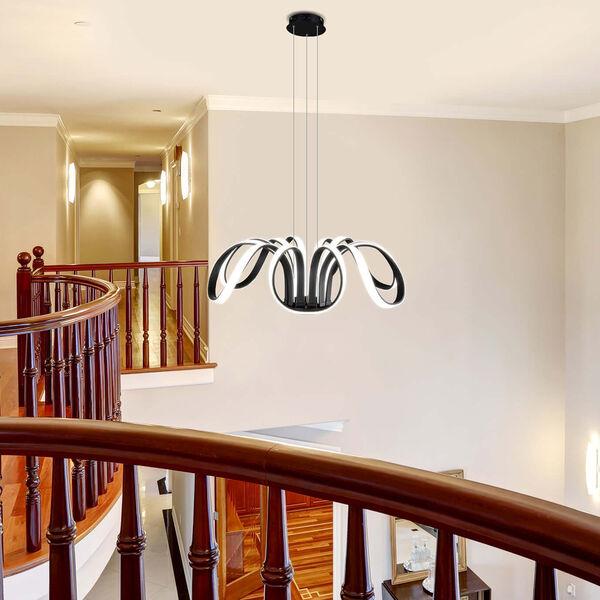 Capella Black 30-Inch LED Adjustable Chandelier, image 2