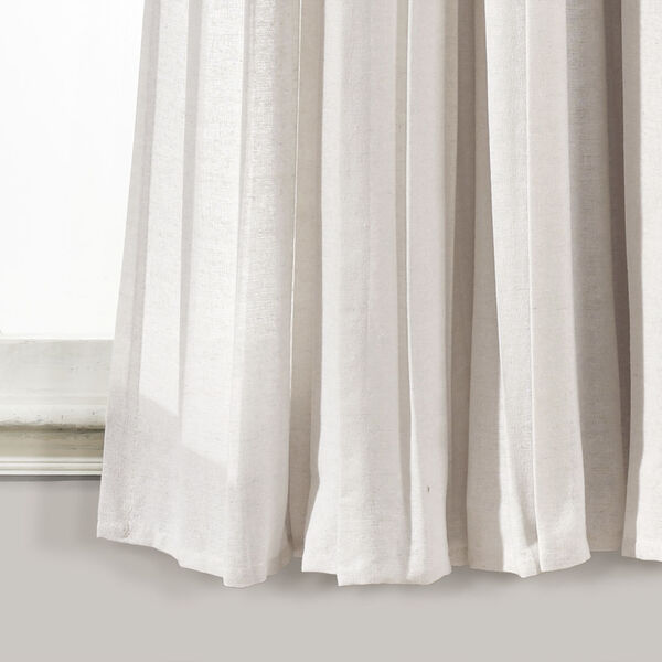 Linen Button Beige and Off White 40 x 63 In. Single Window Curtain Panel, image 4