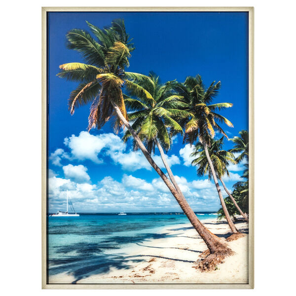 Blue Green and Yellow 30-Inch Isle Retreat Landscape, image 1